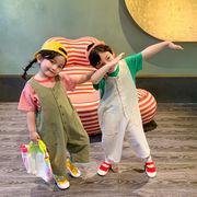 ズボンパンツサロペットオールインワン  韓国子供服 男の子女の子2020新作動画あり
