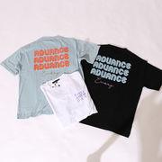 【2020春夏新作】ユニセックス 『ADUANCE』ロゴ プリント BIG 半袖 Tシャツ