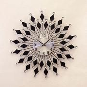 【壁掛時計】デザインウォールクロック【ブラックダイアモンド】
