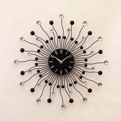 【壁掛時計】デザインウォールクロック【ブラックプラネット】