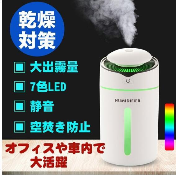 加湿器 次亜塩素酸水 2020最新版 超音波 小型 除菌 空気清浄 10時間連続加湿 USB給電 空焚き防止