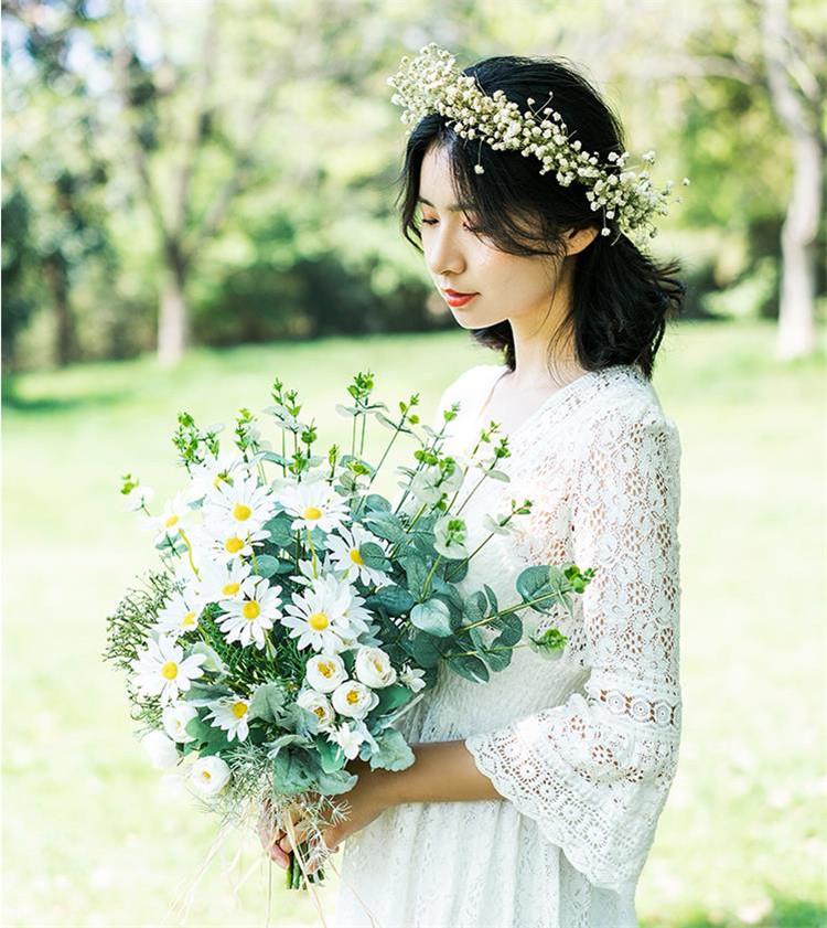 写真小道具 自然 フラワーアレンジメント 小さい新鮮な フレッシュ 花嫁   ウェディング