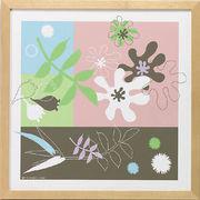 モダンキャンバスアート「Leaves  arrangement (ミックス)」
