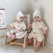 赤ちゃん プリンセス 連体衣 パジャマ ベビー トップス 冷感ファッション 韓国子供服 2020新作
