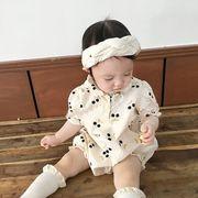 赤ちゃん プリンセス 連体衣 パジャマ ベビー さくらんぼ模様冷感ファッション 韓国子供服 2020新作
