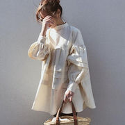 2020新作 薄手 ドレス ワンピース u16800 無地 スプライト レディース シャツワンピース SALE