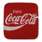 コカ・コーラ ハンドタオル ブランドロゴ  【アメリカン雑貨】【日本製タオル】