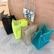 レディース/ファッションバッグ/手提げバッグ/ビーチの定番/透明/夏の定番/網バッグ