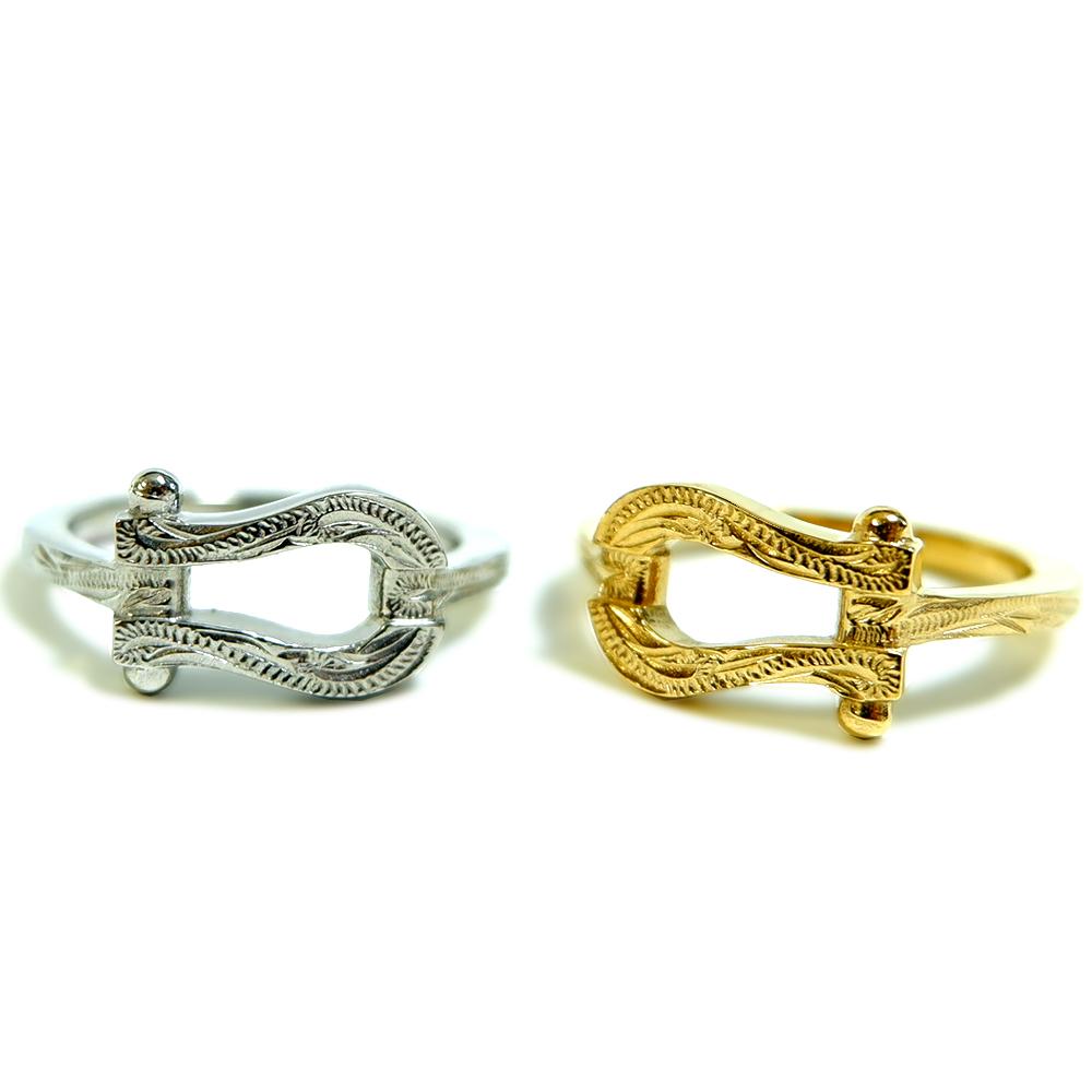 ハワイアンジュエリー リング 指輪 サージカル ステンレス 馬蹄 ホースシュー インスタ sale