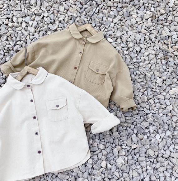 2020秋新品 アイテム 子供服 男女兼用 長袖 刺繍 シャツ キッズ トップス tシャツ