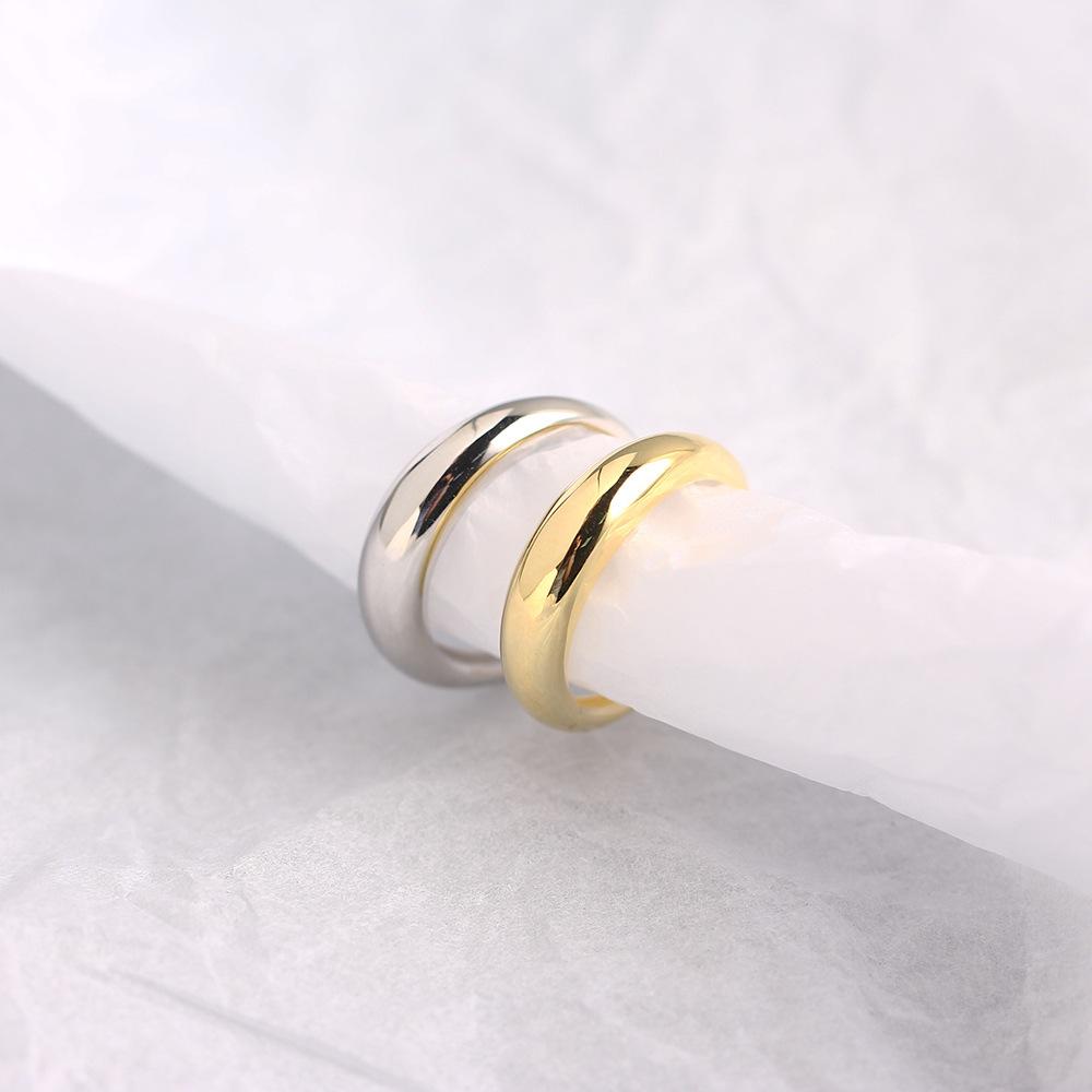韓国アクセサリー シルバー925素材 デザインリング シルバー ゴールド