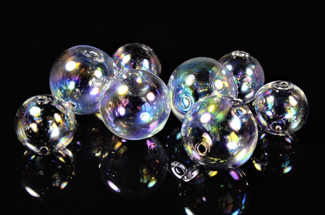 【夏アクセサリー】ガラスドーム/人魚ガラスドーム/風鈴ガラス/オーロラ鍍金ガラスドーム