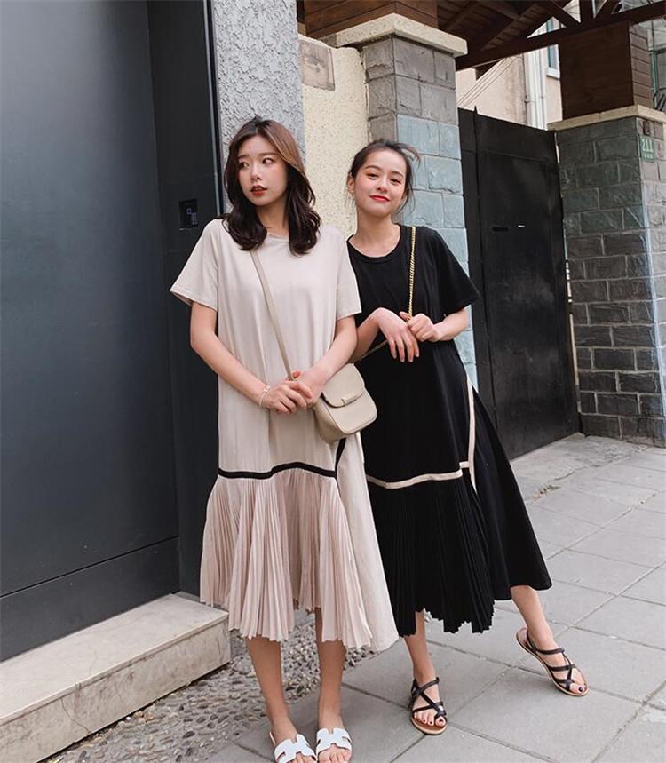 夏も使える 限定SALE 韓国ファッション 2020夏 レトロ 百掛け ラウンドネック 新作 ゆったりする スリム