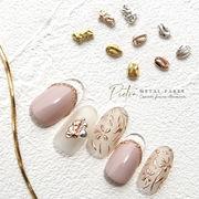 ニュアンスネイルに【メタルパーツ Pietra-ピエトラ- 9種】ゴールド/ピンクゴールド/シルバー