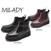 S) 【ミレディー】厚底レインブーツ  ML778  レインブーツ  全2色 レディース