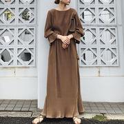 u17065 ワンピース  マキシ 2020新作 ドレス カジュアル  大きいサイズ SALE