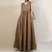 u17073 ワンピース  マキシ 2020新作 ドレス カジュアル  大きいサイズ SALE