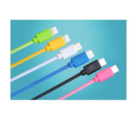 スマホ 充電ケーブル カラフル iPhone usb-c micro-usb XR XS MAX PVC USBケーブル 1m 2m 3m3m