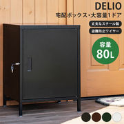 DELIO 宅配ボックス大容量1ドア BK/BR/GN/WH