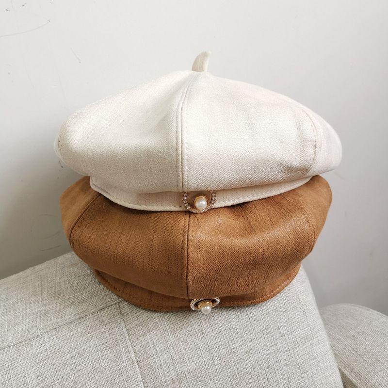 帽子 ベレー帽 起毛 スウェード ベロア 秋冬新作 レディース