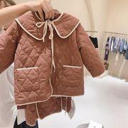 コート+スカート 秋冬 中綿 子供服 キッズ 80-130 2色 韓国ファッション カジュアル系