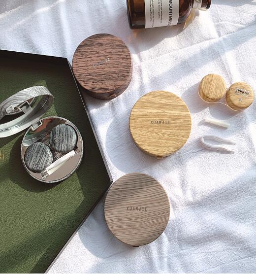 「雑貨」 生活用品 コンタクトレンズケース カラコンケース 小物入れ 鏡つき