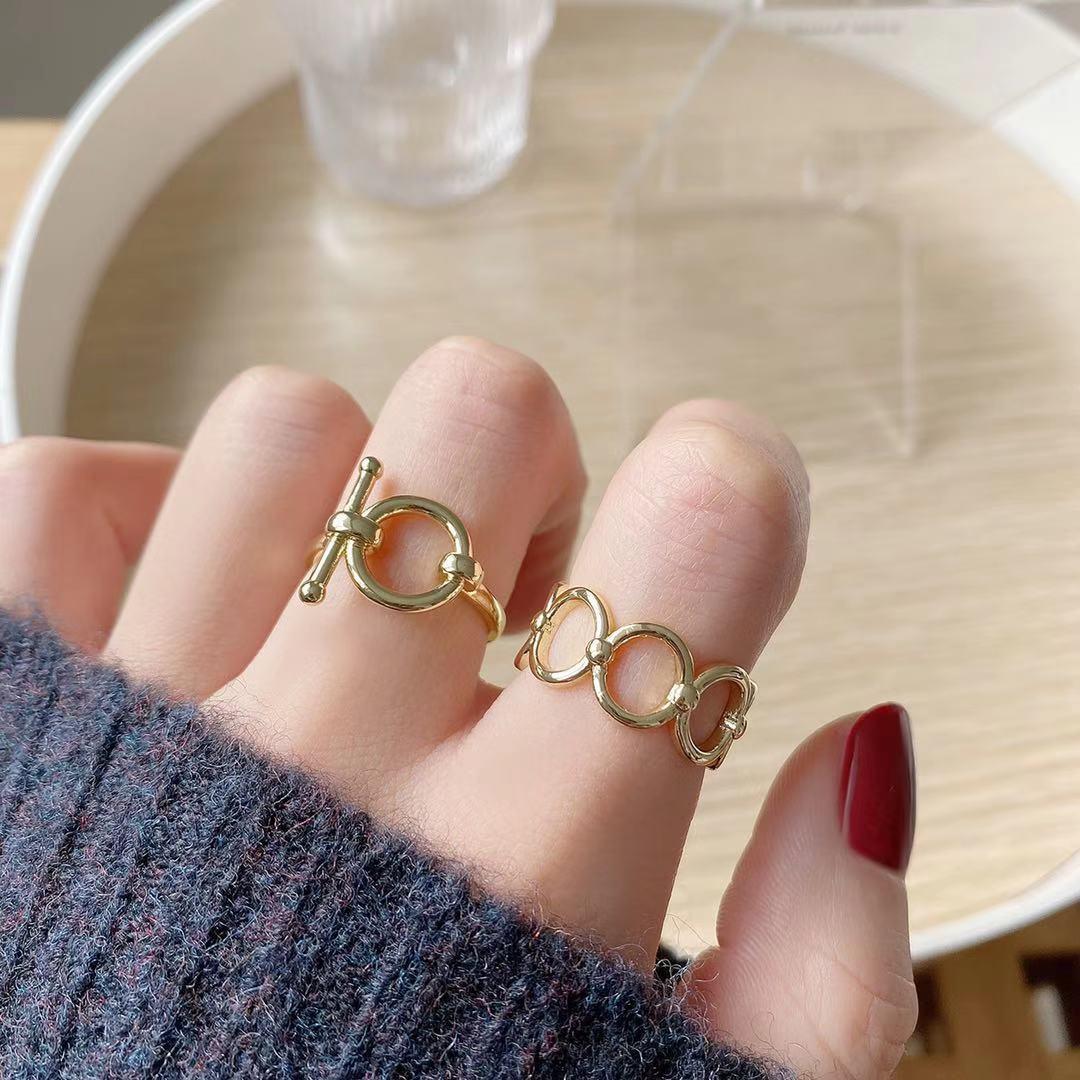 即納 高品質 フリーサイズ  リング 指輪 開口指輪 ゴールドメッキ 真鍮