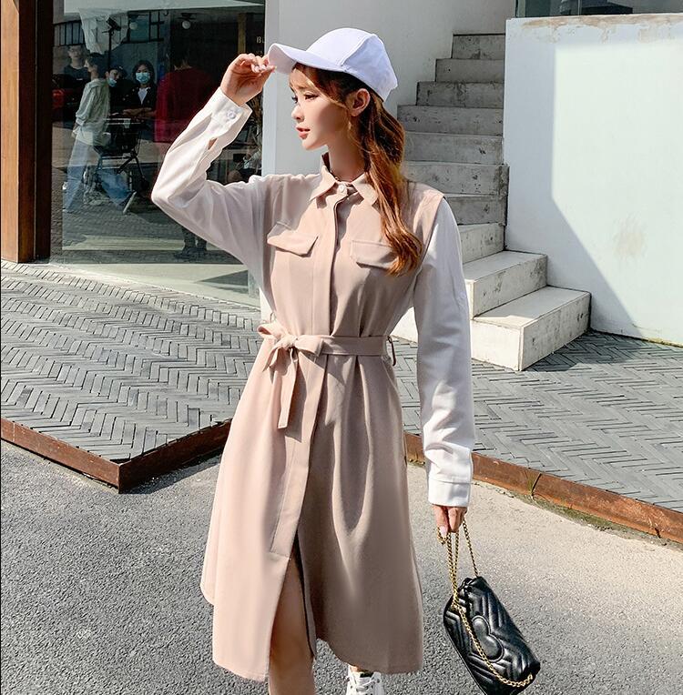 ワンピース 新作 レディースファッション 韓国スタイル ゆったり スリム効果 スカート 韓国スタイル