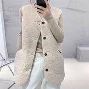 [緊急タイムセール!!]韓国ファッション コート 単体ボタン チェスターコート ベスト タンクトップ