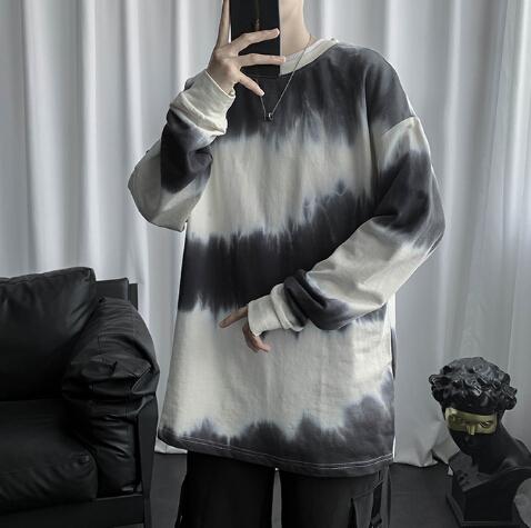 新作 メンズ トップス ロングTシャツ ブラウス 長袖 カジュアル