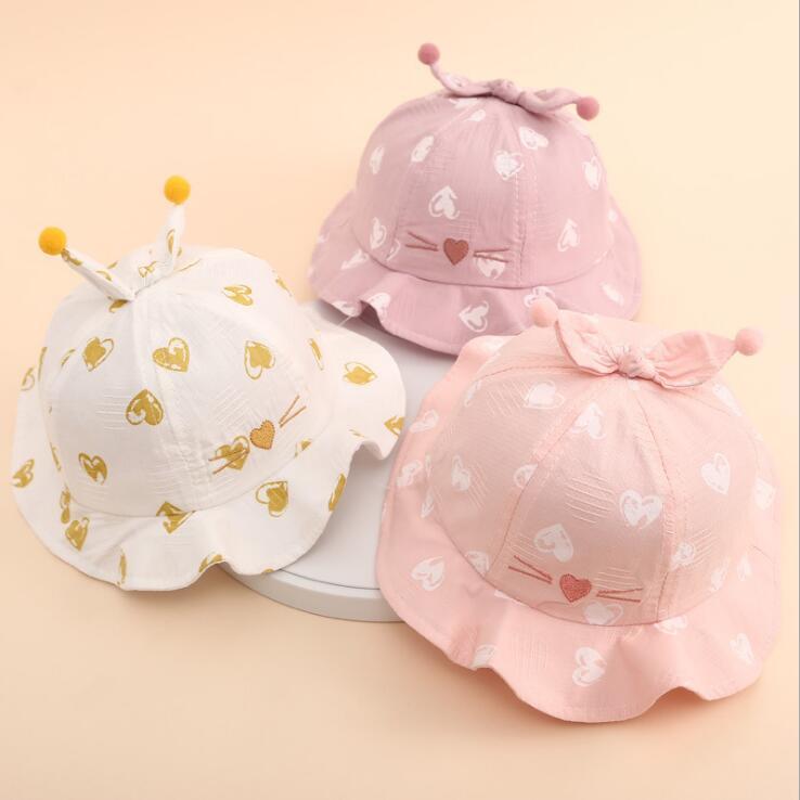 秋 ベビーハット  薄い 子供帽子 赤ちゃん 日焼け止め 日よけ帽   日よけ帽 可愛い