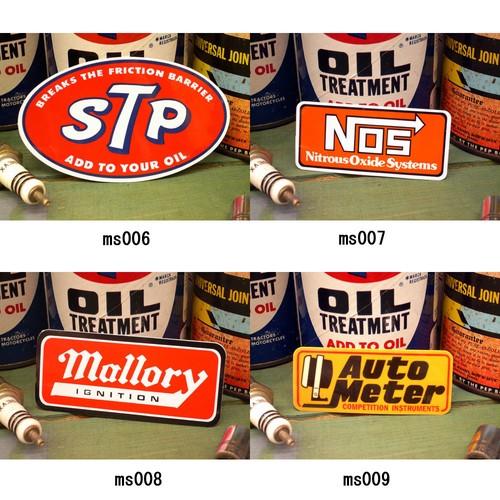 レーシング ステッカー STP NOS MALLORY AUTOMETER マロリー オートメーター 耐水性加工 アメリカン雑貨