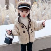【KID】リバーシブル コート 厚いジャケット  暖かい子供服 チェック シンプル 冬秋