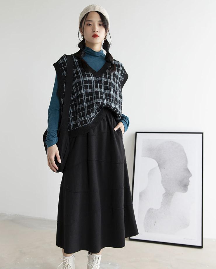新品百掛け 秋冬新発売 スカート セーター ロング丈 レディース
