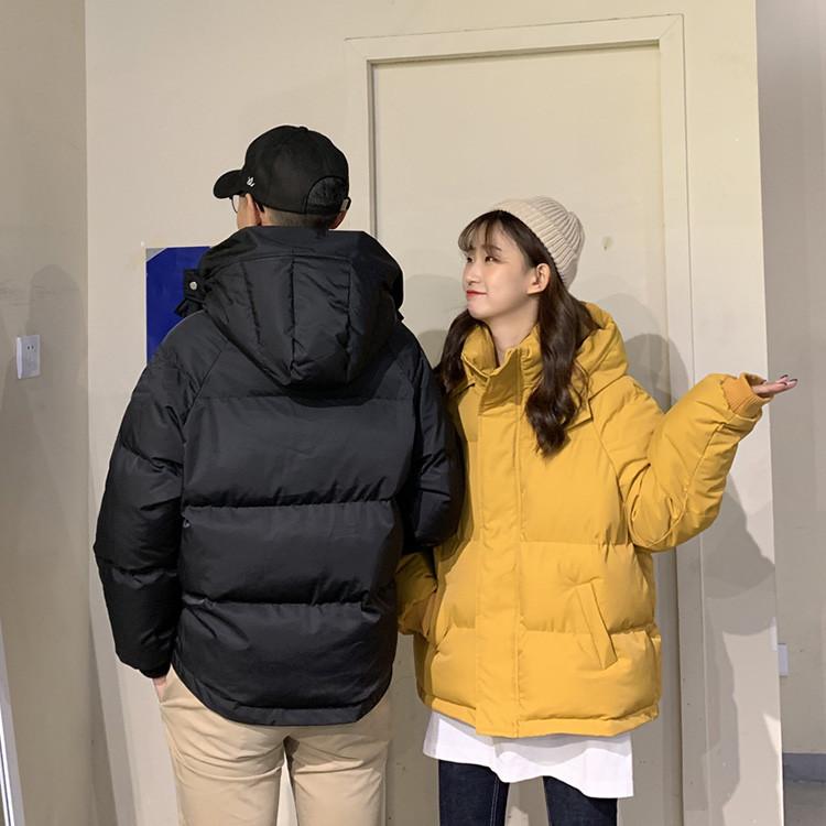 気質の女神は本当に綺麗です 韓国版 パン服 学生 ダウンコート トレンド フード付き カップルウェア暖かい