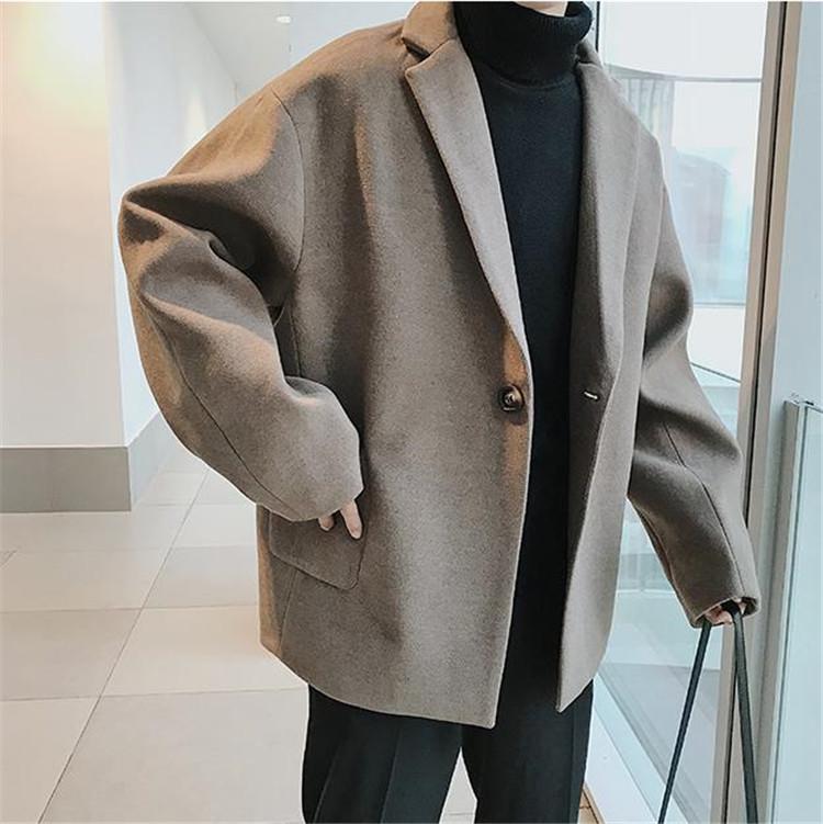 新しいデザイン 通勤する ウールコート タイドファッション コート 韓国版 トレンド 簡約 カジュアル