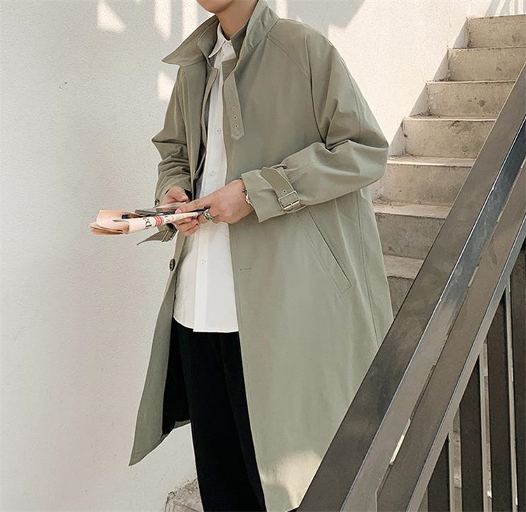新色が安い!韓国ファッション  中・長セクション コート スタンドカラー カジュアル シンプル 韓国版