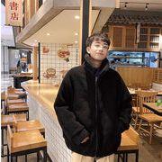 さわやかなようす ラムウールコート タイドファッション コットンジャケット 韓国版 ゆったりする
