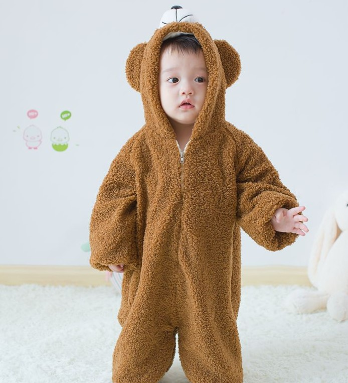 【BABY KID】 ダッフィー全身なりきりもこもこジャンパー 秋冬服   全2色