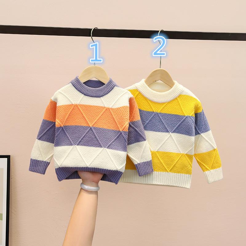 セーター ニット長袖シャツ 男女兼用 キッズ服 韓国子供服トップス  何でも似合う