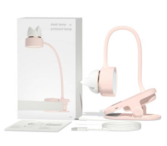 送料無料 デスクライト usb充電 クリップ式 テーブルスタンド 読書灯 ナイトランプ 常夜灯 ネコ 可愛い