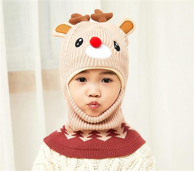 ベビー ビブワンピースハット 百掛け シンプル 帽子 冬 フリース 保温 子供用帽子 男の子 女の子