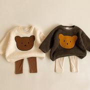 【BABY KID】 ぬくぬくクマプリントセーター 秋冬服   全3色