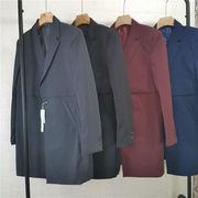 男 スーツ 韓国風 着やせ 英国スタイル 青年 ハンサム 中長スタイル 発 タイプ レジ