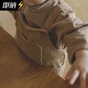【即納】 コーデュロイサイドポケットオーバーオール 秋冬服   全2色