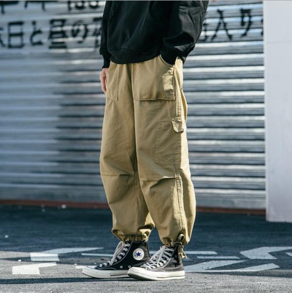 2020超人気 ジーパン大きいサイズ大型タイドブランドゆったり巾着ズボン