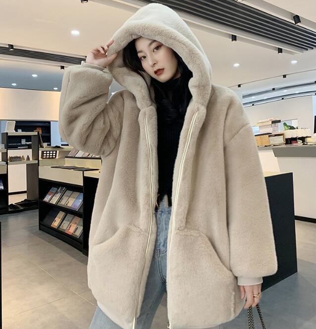 冬新作 ファーコート ジャケット ふわふわ 暖かい フード付きコート