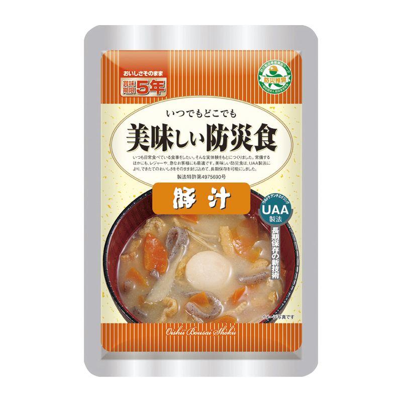 (品薄)アルファフーズ UAA食品 美味しい防災食 豚汁50食(送料無料)【直送品】