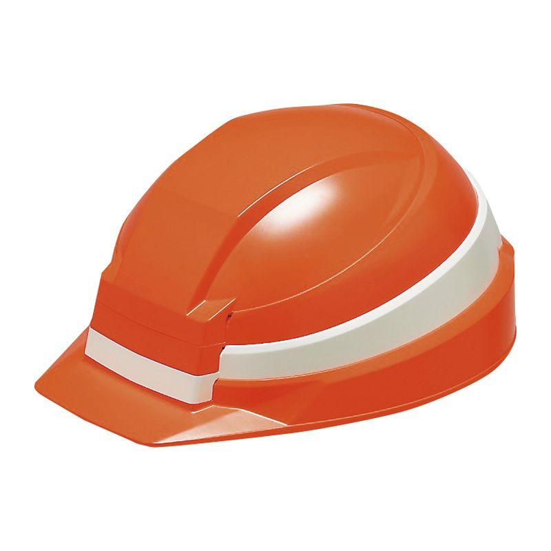 防災用ヘルメットIZANO IZ-OJ WH オレンジ ホワイトライン