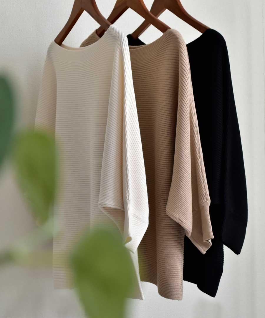 DolmanSleeve knit tops 25076